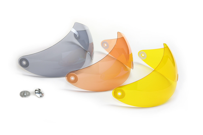 HHe950 Visor grey, salmon, yellow + HHe951 Pair of visor screws
