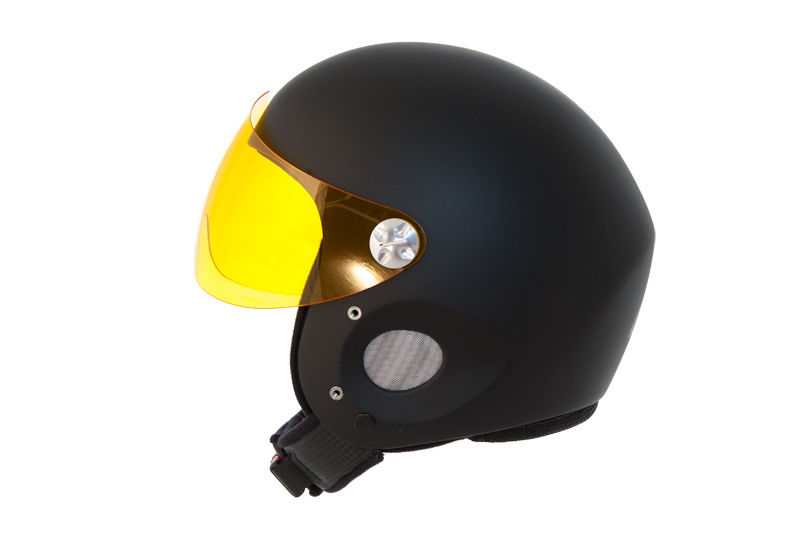 HHe5v Charly Ace black + HHe950 Visor yellow
