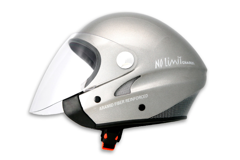 HHe31J No Limit Jet anthracite metallic with clear visor